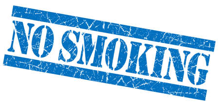 No smoking grunge blue stamp photo