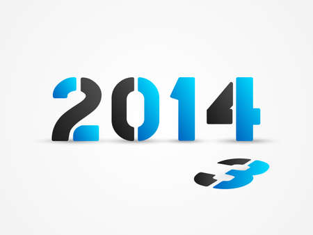 new year 2014 blue poster Vector
