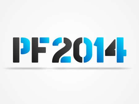 pf 2014 blue poster Vector