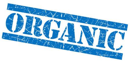 Organic grunge blue stamp photo