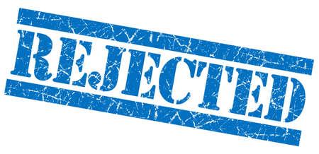 acceptation: Rejected grunge blue stamp