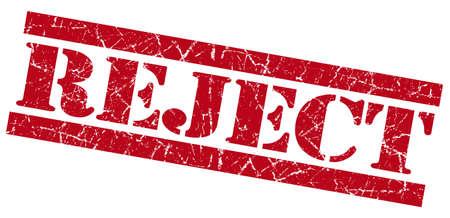 acceptation: Reject grunge red stamp
