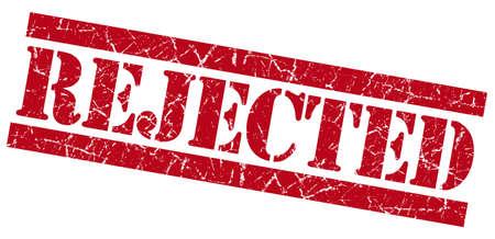 acceptation: Rejected grunge red stamp