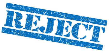acceptation: Reject grunge blue stamp