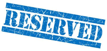 Reserved blue grunge stamp