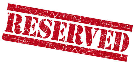 reserved: Reserved red grunge stamp
