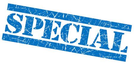 Special blue grunge stamp photo