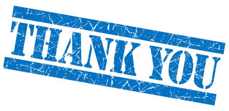 thanks a lot: Thank you blue grunge stamp