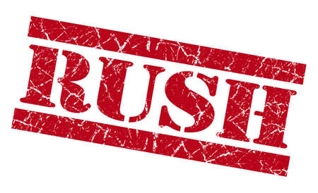 Rush red grunge stamp photo