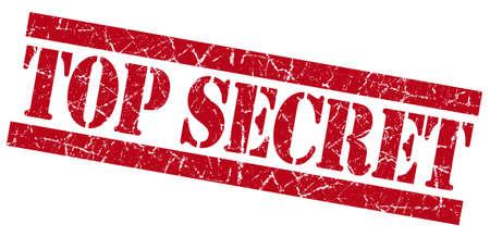 strictly: Top secret red grunge stamp