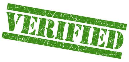 acceptation: Verified green grunge stamp