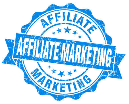 Affiliate marketing blue grunge vintage seal photo