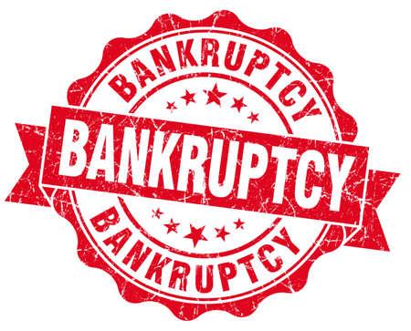 moneyless: Bankruptcy red grunge vintage seal