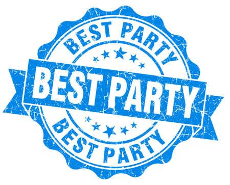 best party: Miglior partito blu vintage grunge sigillo