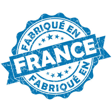 made in France blue grunge seal photo