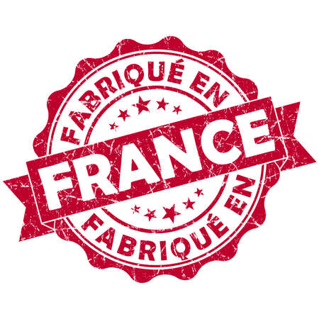made in France red grunge seal photo
