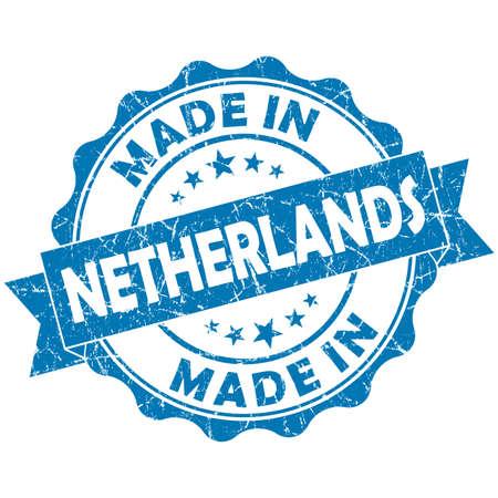 made in netherlands: made in Netherlands blue grunge seal