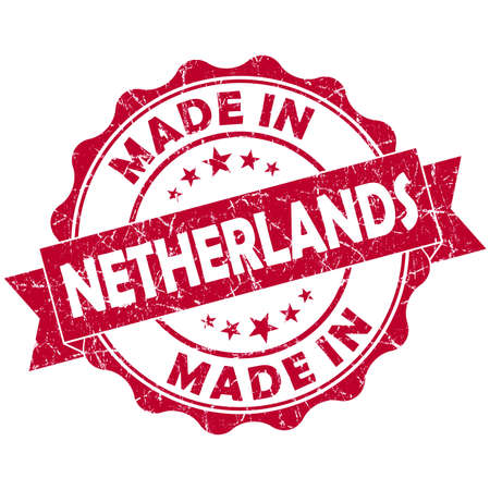 made in netherlands: made in Netherlands red grunge seal Stock Photo