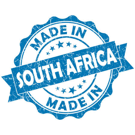 made in South Africa blue grunge seal photo