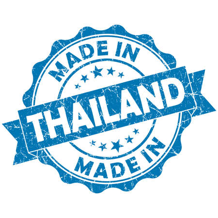 made in Thailand blue grunge seal photo