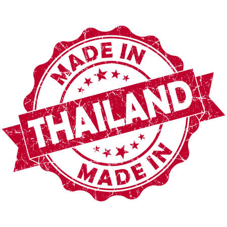made in Thailand red grunge seal photo