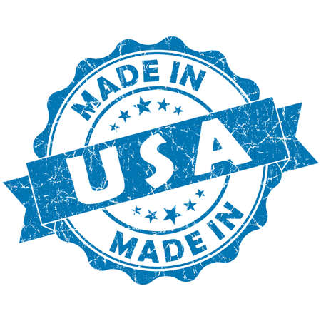made: made in USA blue grunge seal
