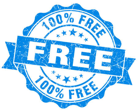 freebie: Free grunge blue vintage round isolated seal
