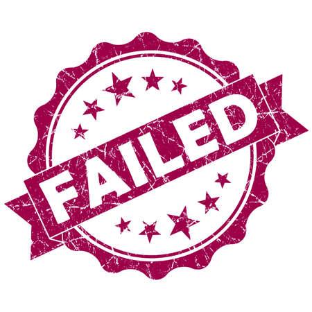 returned: Failed pink vintage round grunge seal isolated on white background Stock Photo