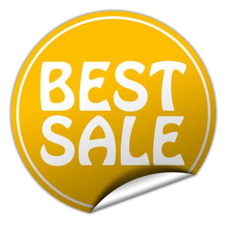 peel off: Best sale round yellow sticker on white background