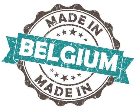 made in BELGIUM blue grunge seal