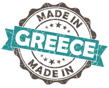 made in greece stamp: made in GREECE blue grunge seal