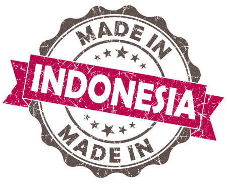 made in INDONESIA pink grunge seal photo