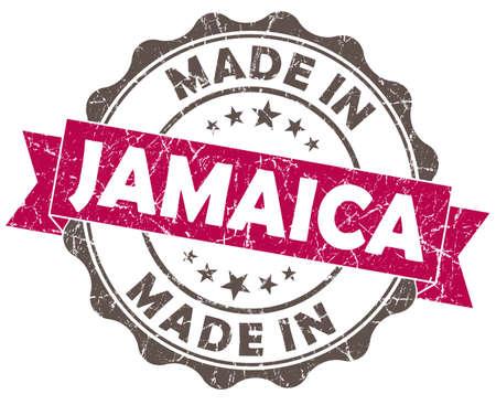 made in JAMAICA pink grunge seal photo