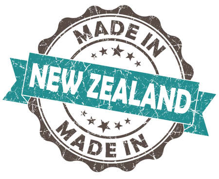 made in New ZEALAND blue grunge seal