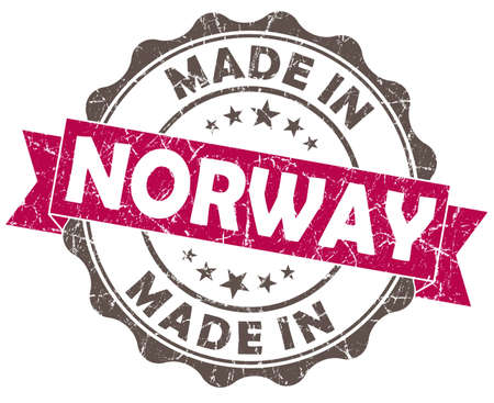 made in NORWAY pink grunge seal photo