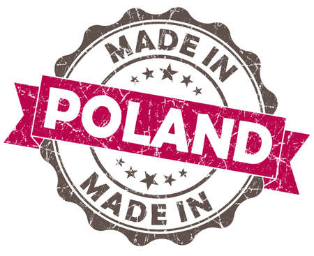 made in POLAND pink grunge seal photo