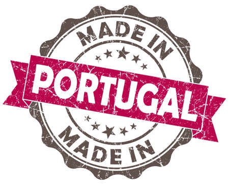 made in PORTUGAL pink grunge seal photo