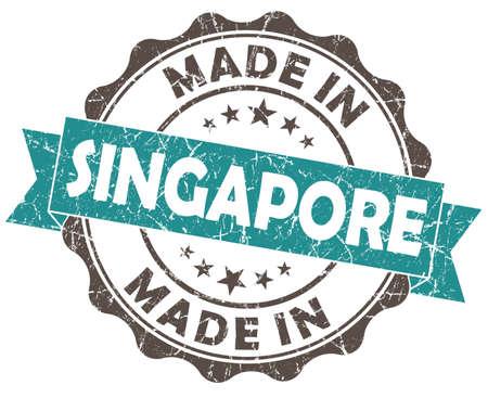 made in SINGAPORE blue grunge seal photo