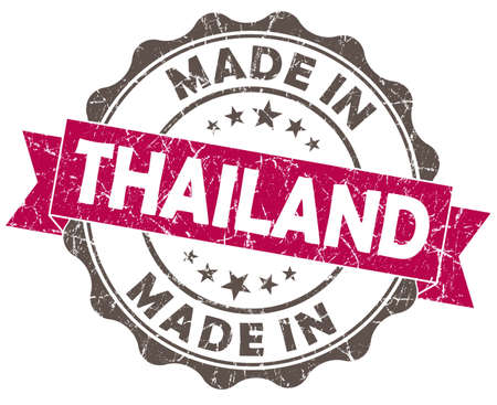 made in THAILAND pink grunge seal photo