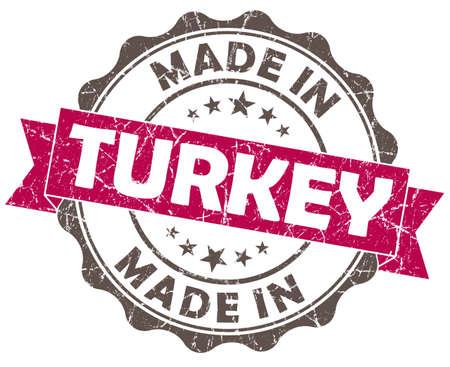 made in TURKEY pink grunge seal photo