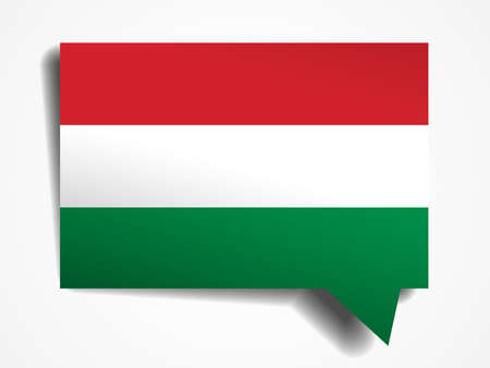 hungary paper 3d realistic speech bubble on white background Illustration