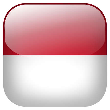 Indonesia national flag square button isolated on white background photo