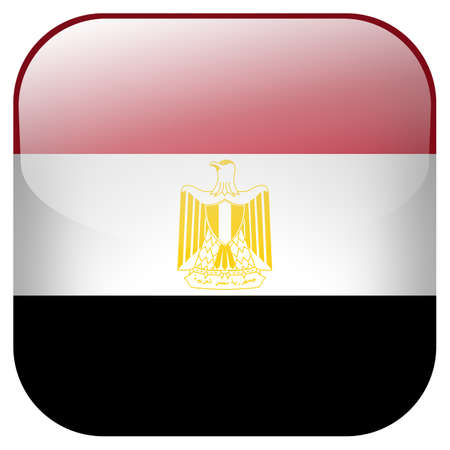 Egypt national flag square button isolated on white background photo
