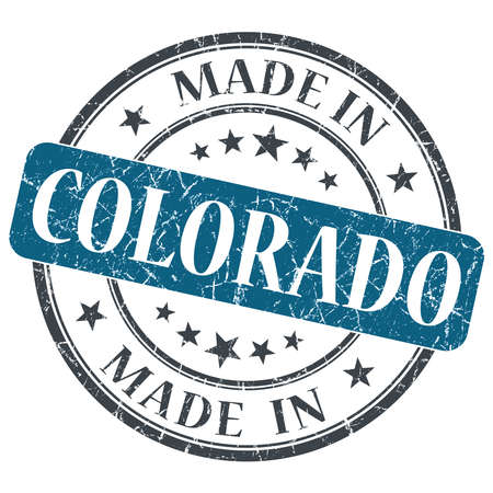 made in Colorado blue round grunge isolated stamp photo