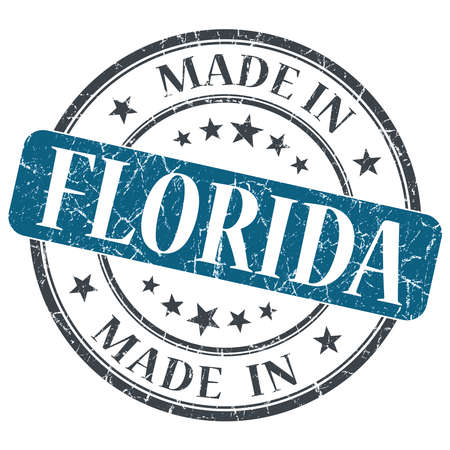 made in Florida blue round grunge isolated stamp photo