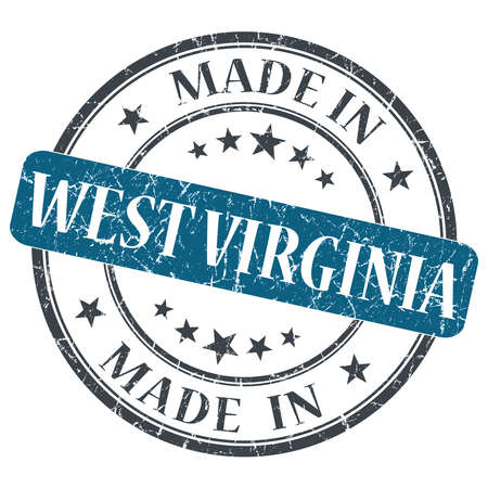 made in West Virginia blue round grunge isolated stamp photo