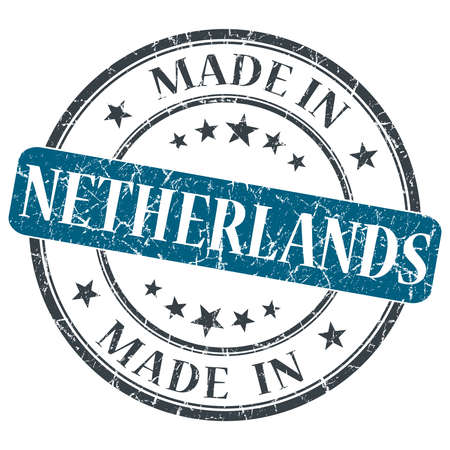 made in netherlands: made in Netherlands blue grunge round stamp isolated on white background