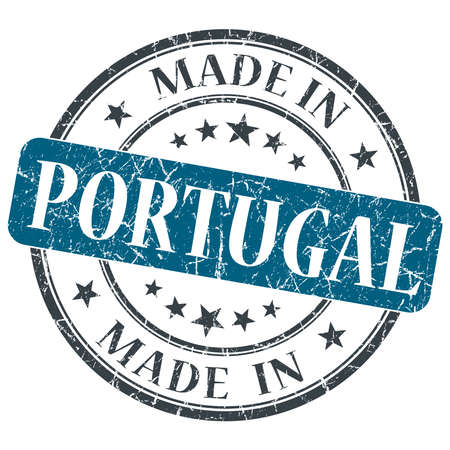 made in portugal: made in Portugal blue grunge round stamp isolated on white background