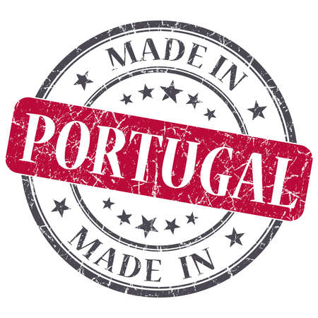 made in portugal: made in Portugal red grunge round stamp isolated on white background