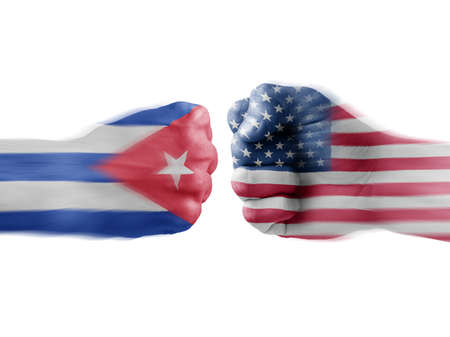 vying: Cuba x USA Stock Photo